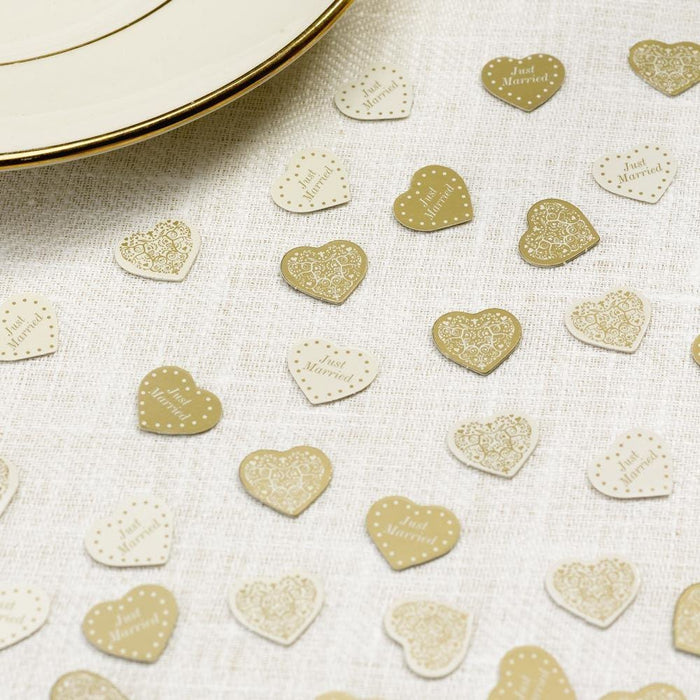 Vintage Romance - Table Confetti - 14g - Ivory/Gold