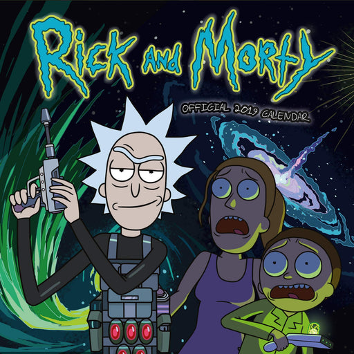2019 Official Calendar Sqaure Rick and Morty