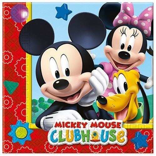 NAPKINS PAPER TWO-PLY 20CT,  PLAYFUL MICKEY