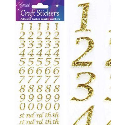 Eleganza Stickers - Stylised Numbers Set Gold - No.65