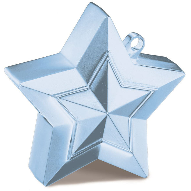 STAR BALLOON WEIGHTS x1 (SINGLE) PEARL LIGHT BLUE