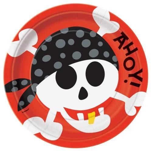 "Pirate Fun Round 9"" Dinner Plates, 8ct"