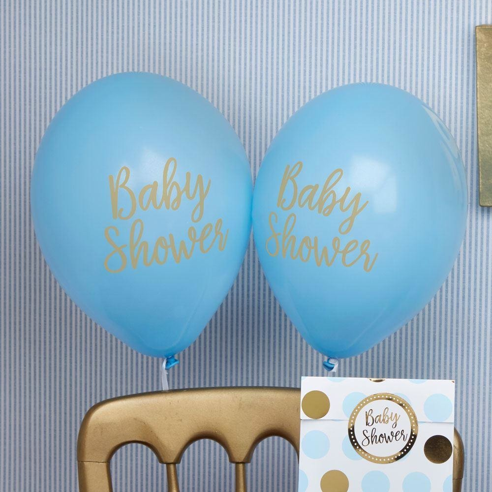Pattern Works - Balloons - Baby Shower Blue - 8 pack
