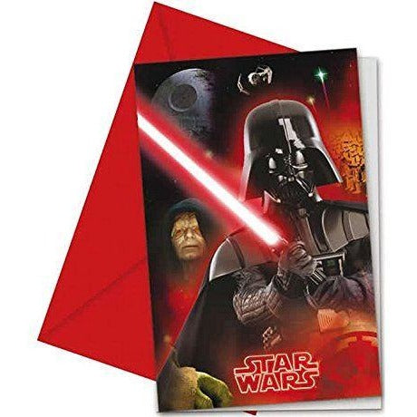 INVITATIONS & ENVELOPES 6CT STAR WARS