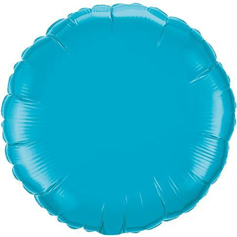 Round Decorator Foil Balloon Turquoise (unpackaged)