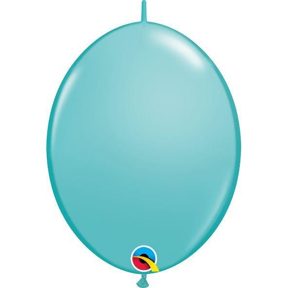 "12"" QLINK CARIBBEAN BLUE  50CT,  QUALATEX QUICK LINK BALLOONS"