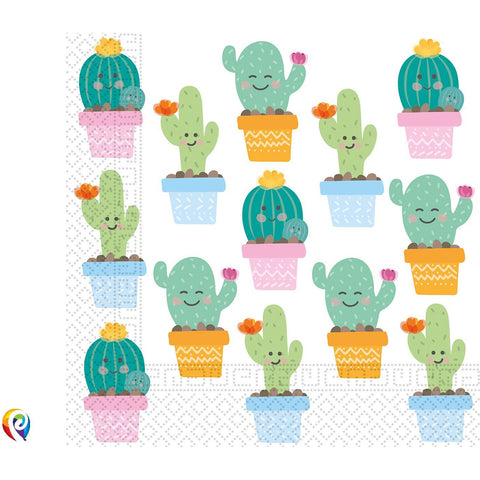 Cactus Party Paper Napkins