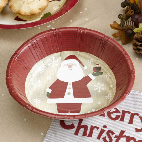 Let It Snow - Paper Bowl - Father Christmas