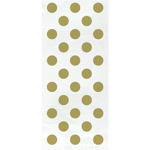 "Gold Dots Cellophane Bags 5""x11"", 20ct (special price 0.38 when ordered in mixed pallet of 1440)"
