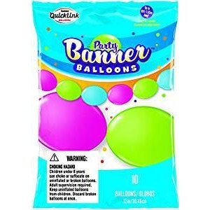 PARTY BANNER BLNS 10CT BRIGHT AST