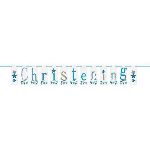 Unique boy christening banner