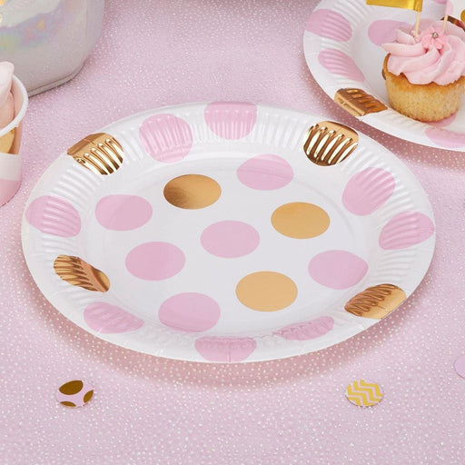Pattern Works - Plate Pink Dots - 8 pack