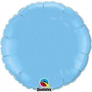 "18""  RND                    ST,  PALE BLUE PLAIN FOIL"