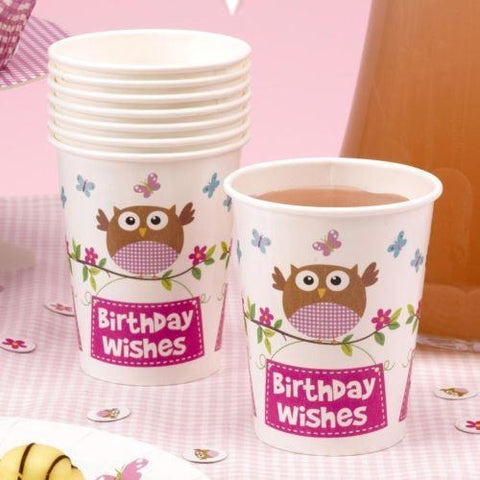 Little Owls - Birthday Wishes Cup - 8 - Pink