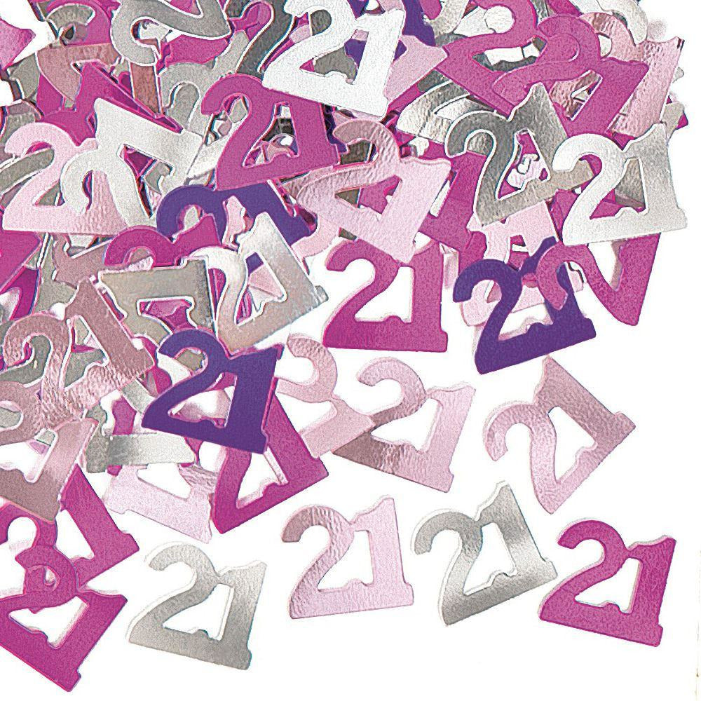 Pink Glitz Confetti Age 21 (special price of 30p) (Also Upstairs)