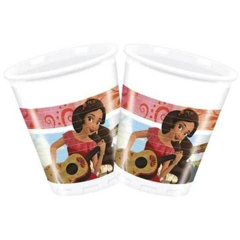 CUPS PLASTIC 200ML 8CT,  ELENA OF AVALOR