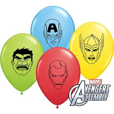 "5"" Marvel Avengers Faces Assortment Latex x10"