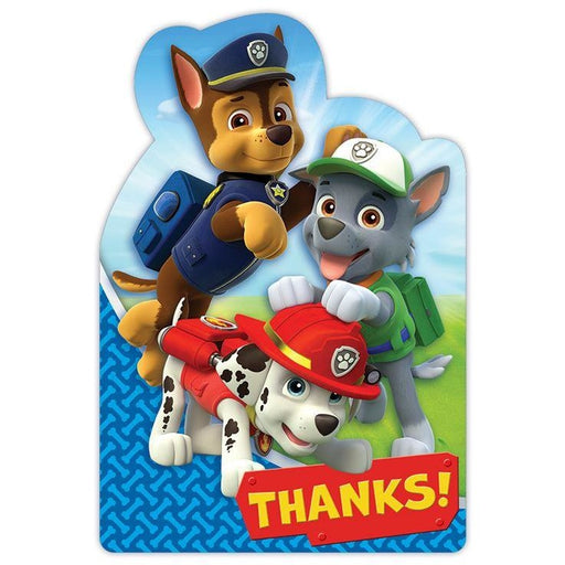 PSTCD THANK YOU PAW PATROL