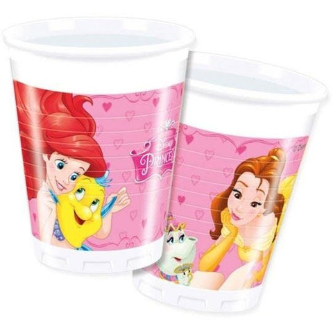 CUPS PLASTIC 200ML 8CT,  DISNEY PRINCESS
