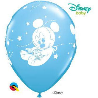 "12""  RND  06CT  PALE BLUE DN BABY MICKEY STARS"