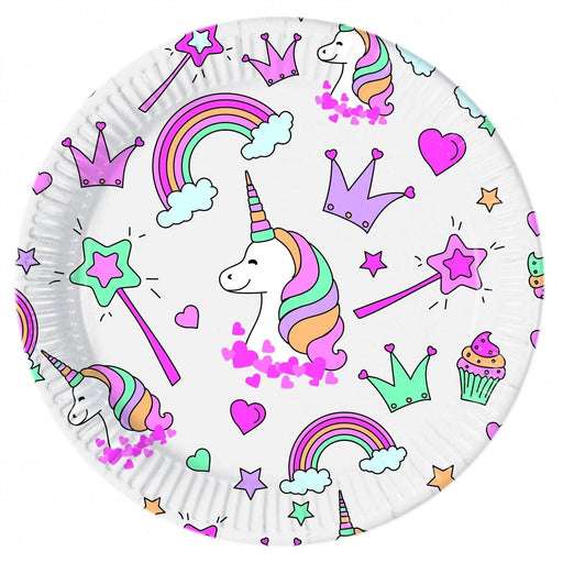 Magic Unicorn Party Plates 23cm 8ct