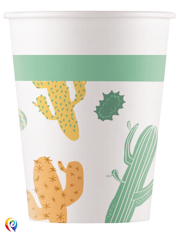 Cacti Paper Cups x 8