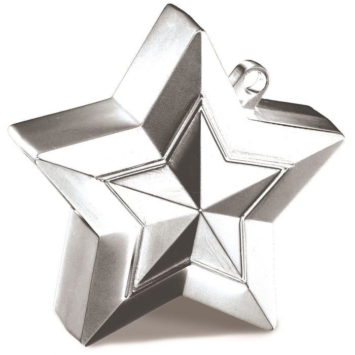 STAR BALLOON WEIGHTS 12CT (FULL BOX) SILVER