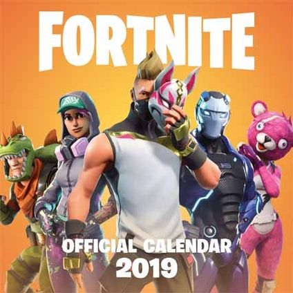2019 Official Calendar Square Fortnite