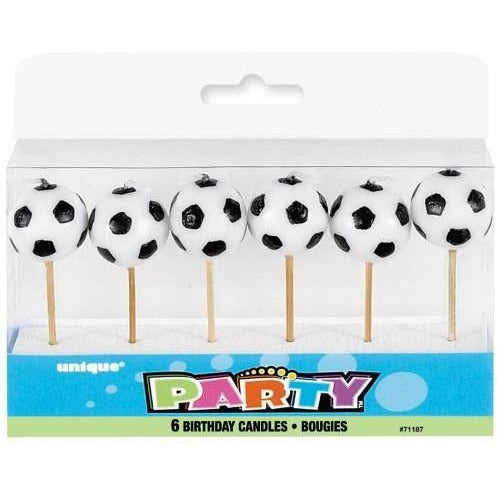 Soccer Pick Birthday Candles, 6ct (Also Upstairs)