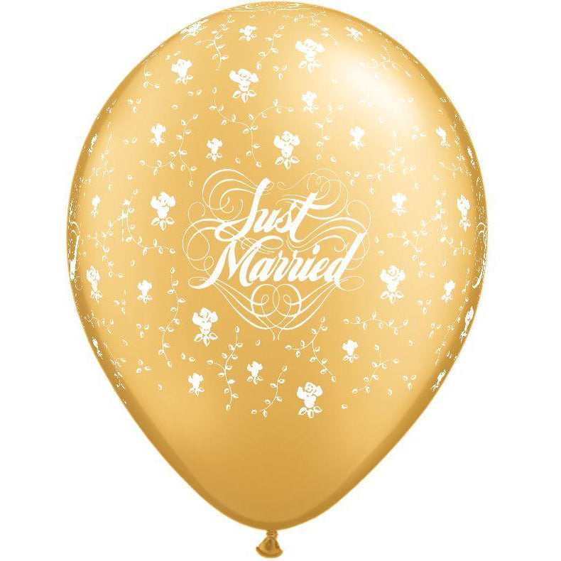 Just Married Flowers Pearl Ivory X 50