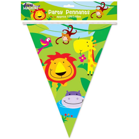 Jungle Party Flag Banner