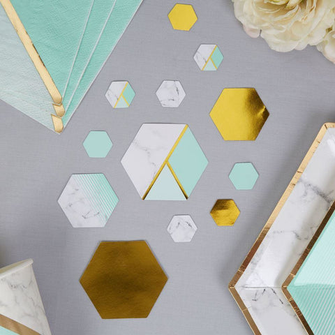 Colour Block Table Scatters - Mint