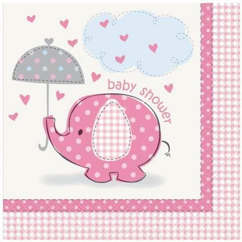 Umbrellaphants Pink Luncheon Napkins, 16ct