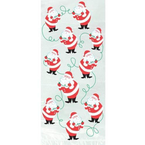twinkle Santa Cello Bags Christmas (special price 0.38 when ordered in mixed pallet of 1440) - Seasonal Do not Order