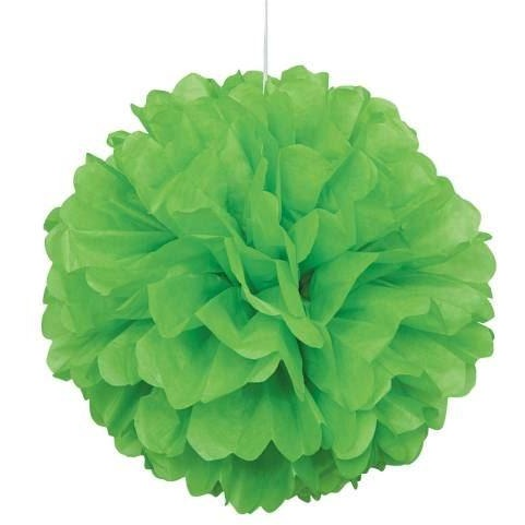 Lime Green Puff D?®cor 16""