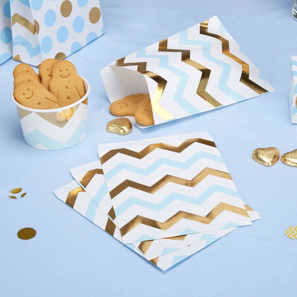 Pattern Works - Sweetie Bag Blue Chevron - 25 pack