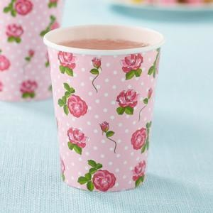 Vintage Rose - Cups 8 Pack