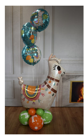 Inflated Llama Balloon Display (Collection Only)