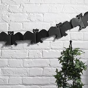 Happy Halloween - Tissue Garland - Black Bat