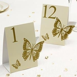 Elegant Butterfly - Table Numbers - Butterfly - Ivory