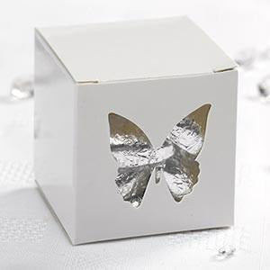 Elegant Butterfly - Butterfly Favour Box - 10 - White