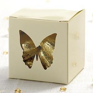 Elegant Butterfly - Butterfly Favour Box - 10 - Ivory
