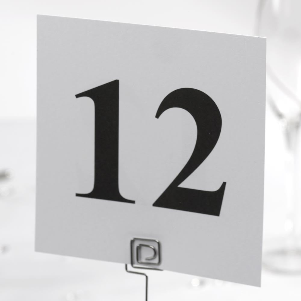 Table Numbers - Square,1-12