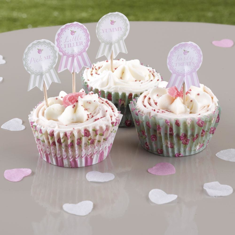 Frills & Spills Cupcake Sticks - 20 pack