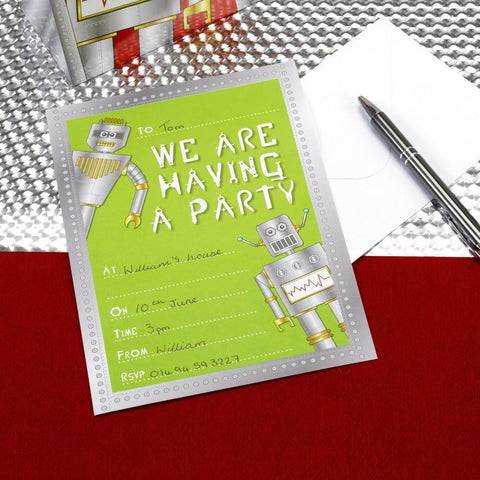 Robot Heros - Invitations - 10