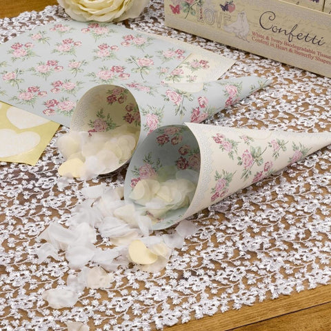 With Love - Confetti Cones - 10
