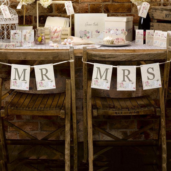With Love - Mr & Mrs Chair Bunting