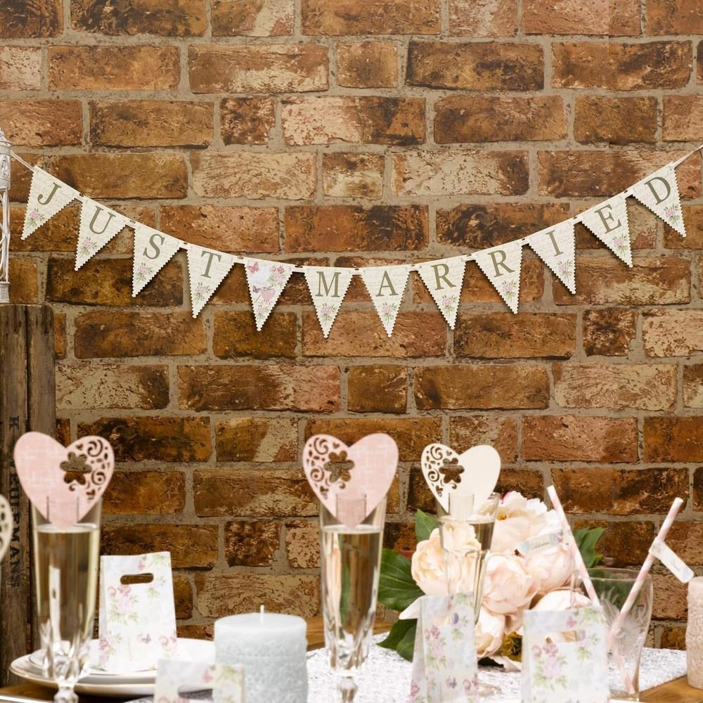 With Love - Just Married Bunting - Mini