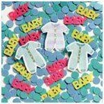 Clothes Line Baby Shower Confetti