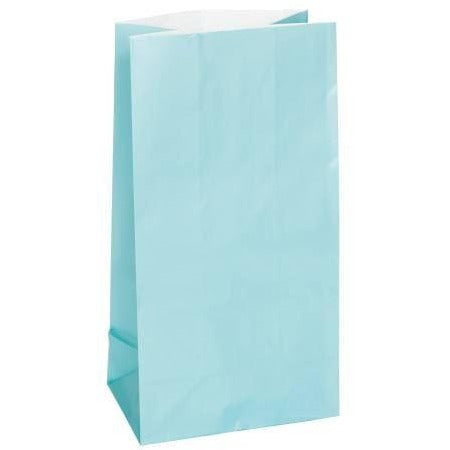 powder blue paper bag
